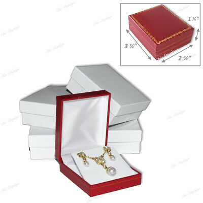 Lot Of 4 Earring Box Pendant Boxes Red Gift Boxes Showcase Displays Jewelry Box