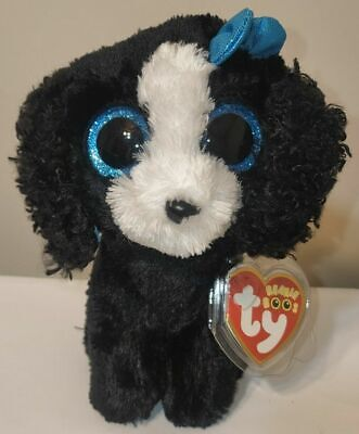 """Ty Beanie Boos ~ TRACEY the 6"""" Dog Stuffed Plush Toy (Brand New) 2016 Design"""