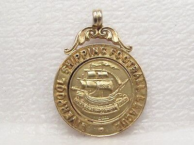 Vintage 9Ct Gold Liverpool Shipping Football League 3Rd Div. Champs Fob 1928/9