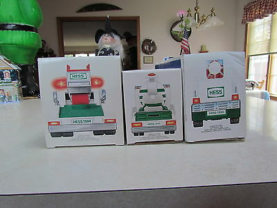 Lot #6 Lot of 3 Hess Trucks:  1994, 1995 and 1996 ~ New in Box!