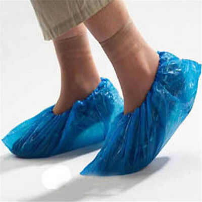 20 Disposable Plastic Blue Shoe Covers Cleaning Oversh20 Plastic Disposable Shoe