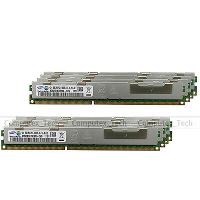 Samsung 64GB 8x8GB DDR3 2RX4 PC3-10600R 240Pin 1333MHz ECC Registered Memory RAM