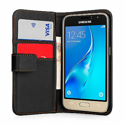 Yousave Accessories PU Leather Flip Wallet Case Cover For Samsung Galaxy J1 & J3