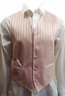 Clearance Of 15 Mens Wilvorst Pink And Silver Stripe Waistcoats 15