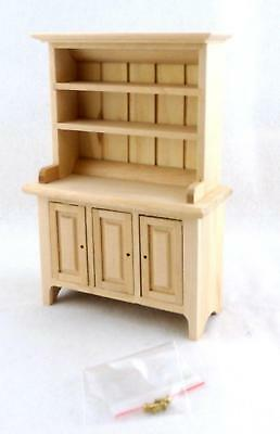 Dolls House Miniature Unfinished Kitchen Dining Room Furniture Bare Wood Dresser