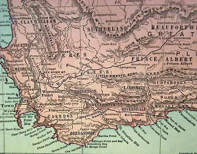 Rand Mcnally Commercial Atlas British South Africa Map Page Plate 1911 Vintage