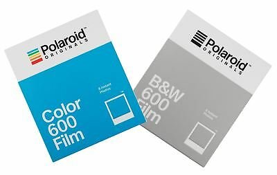 Impossible Instant Film for Polaroid 600 Cameras, 1pk Colour + 1pk Black & White