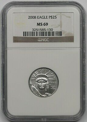 2008 Statue of Liberty Quarter-Ounce Platinum Eagle $25 MS 69 NGC 1/4 oz