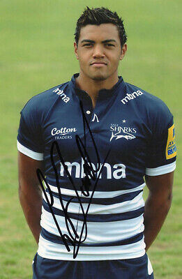Luther Burrell, Sale Sharks, England rugby union, signed 6x4 inch photo. COA.