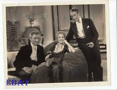 Loretta Young Ronald Colman candid on set VINTAGE Photo Clive Of India