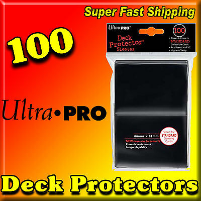 100 ULTRA PRO 100ct BLACK STANDARD SIZE SLEEVES CARD DECK PROTECTOR 82691-100