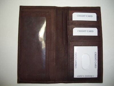 100% Genuine Leather-Checkbook cover brown (New Design!!!)