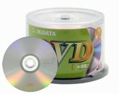 100 Ritek Ridata 16X DVD+R 4.7GB (RiData Logo on Top)
