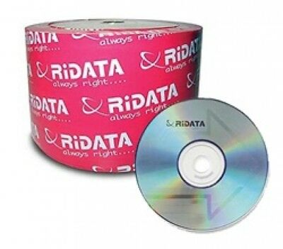 600 Ritek Ridata 52X CD-R 80min 700MB (Logo Top Branded)