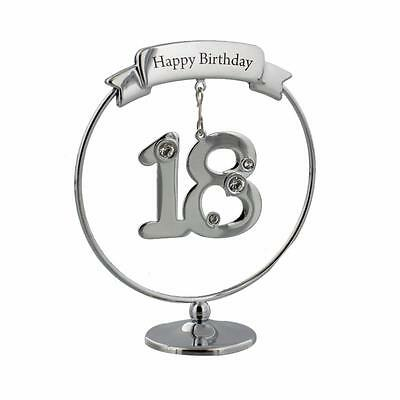 18th Birthday Gift - Crystocraft Celebration Ring with engraving SP448