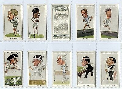 Full Set, Churchman, Men of the Moment in Sport 1928 G-VG (Gy106-451)