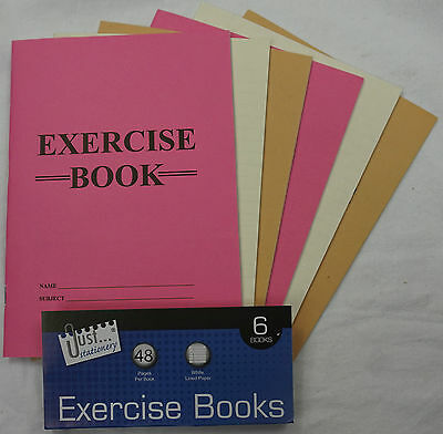 A4 A5  Just Stationery - Exercise Books - 48 Pages - lined ruled ECONOMY c104-7