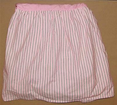 Amy Coe Pink Brown Striped Mod Butterfly Crib Skirt Dust Ruffle Baby Nursery Bed