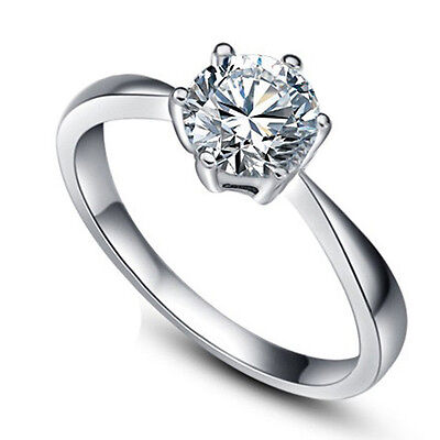 3.70/ct Cubic Zirconia Wedding Band Ring Womens 925 Silver Jewelry Gift Size 4-8