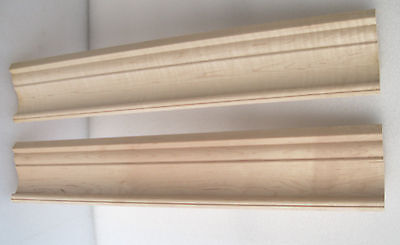 """2 Pieces 4 1/4"""" X 25 1/2"""" Clear Maple Crown Molding"""