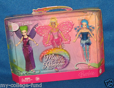 Barbie Fairytopia Magic Of The Rainbow Mini Set Laverna Elina Azura New