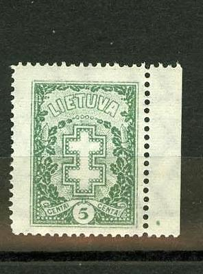 Lithuania:  Sc. 216 MNH  Mi. 270AY**   5c  watermark parquetry, scarce!