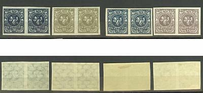 Lithuania Sc..93a -96a, imperforate pairs, MLH/MNH