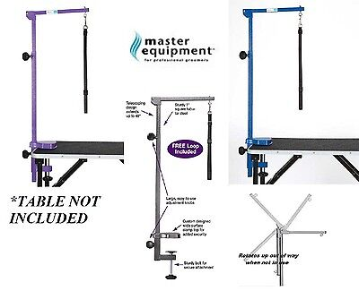 "PRO Heavy Duty PET DOG CAT Grooming FOLDABLE&ADJUSTABLE 48"" TABLE ARM&CLAMP&LOOP"