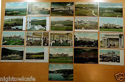 Lot of 21 Antique Postcards ALL MT.WASHINGTON HOTEL, NH New Hampshire 5 UDB
