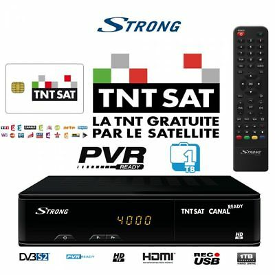 TNTSAT HD 1TB USB HDD PVR  Decoder + TNTSAT Viewing Card – French TV in UK!!