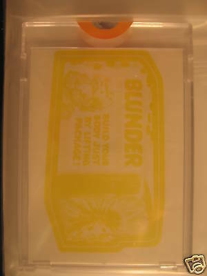 1973 Topps Wacky Packages Series 2 Color Proof Blunder