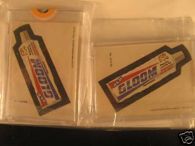 1979 Topps Wacky Packages (2)  Sticker Proof Gloom #14