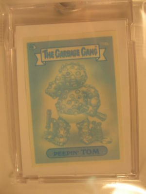 1989 Topps Garbage Pail Kids Gang Blue Proof #114b