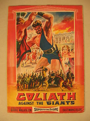 1961 Movie Herald Goliath Against The Giants