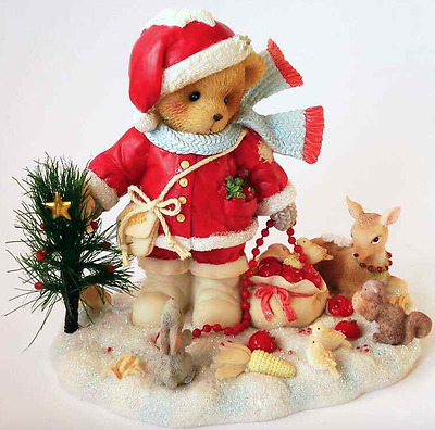 Cherished Teddies - Forrester - With Limited Edition Plaque - 12th Santa - 2006