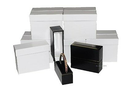 Wholesale (24) Standing Bangle Jewelry Boxes Bracelet Boxes Black Gift Boxes