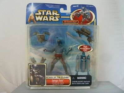 19.295 Star Wars SAGA COLLECTION DELUXE JANGO FETT F/X ELECTRONIC JETPACK MOC
