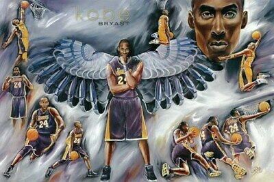 KOBE BRYANT POSTER Amazing Collage Lakers RARE HOT NEW 24x36