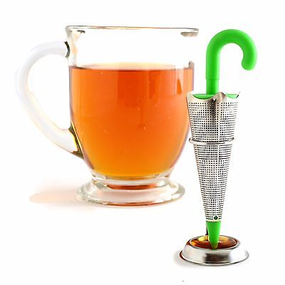 Norpro 5643 Stainless Steel Umbrella Tea Infuser with Drip Catcher Stand