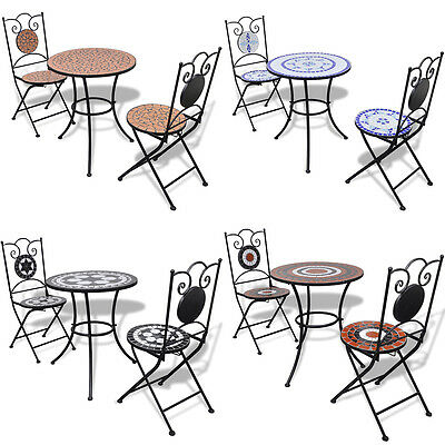 New Mosaic Table & Bistro Chair Set 12 Models Selectable Outdoor Garden Patio