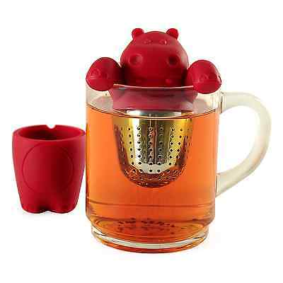 Norpro 5646 Red Silicone Stainless Steel Hip-teapot-amus Tea Infuser