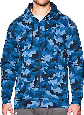 Under Armour Storm Rival Printed Mens Running Hoody - Blue