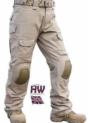 Airsoft Emerson Gen 2 Pants Trousers Tan Sand Brown Knee Pads 34-36 Crye Work
