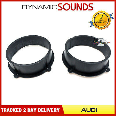 "CT25AU11 20cm 200mm 8"" Front Door Speaker Fitting Adaptors For AUDI TT 2007-2014"