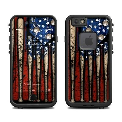Skin for LifeProof FRE iPhone 6/6S - Old Glory Baseball- Sticker Decal
