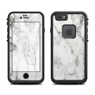 Skin for LifeProof FRE iPhone 6/6S - White Marble - Sticker Decal