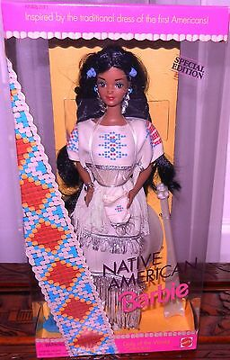 1992 Native American INDIAN BARBIE 1st in Series DOLLS OF THE WORLD new NRFB