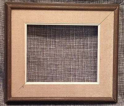 Swedish Mid Century Picture Frame Painting Art Wooden & Canvas vtg retro mcm
