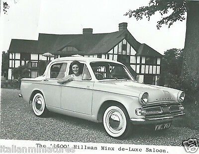 Hillman Minx De Luxe 1600 Saloon Original Small 1962 Photograph Pretty Girl