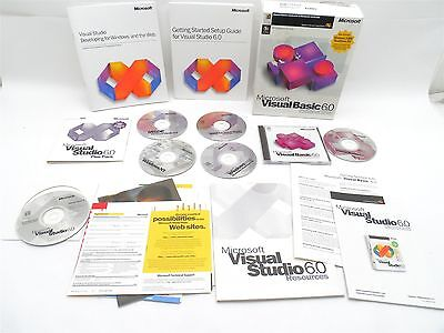 Microsoft Visual Basic 6.0 Pro Edition 203-00768 w/ Visual Studio 6.0 Plus Pack